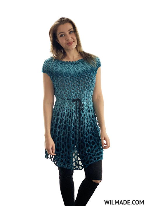 Beginner Crochet Poncho Dress