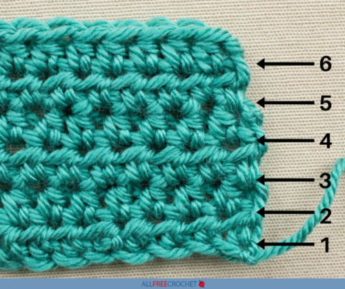 How To Count Crochet Rows Allfreecrochetcom