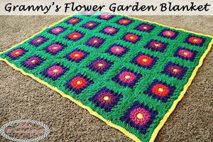Floral Crochet Granny Square Afghan Pattern