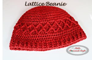 Crochet Beanie with Lace Pattern
