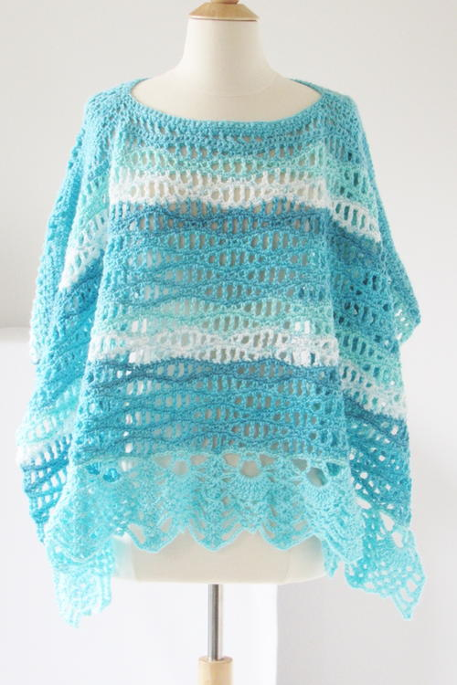 Calming Waves Poncho