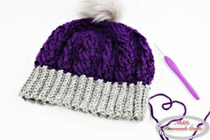 Cable Stitch Crochet Beanie Hat Pattern