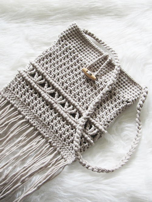 One Skein Boho Bag