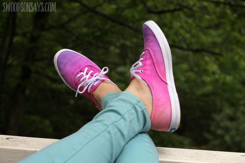 Ombre Tie Dye Tennis Shoes
