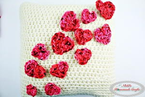 Simply Lovely Crochet Pillowcase with Mini Hearts