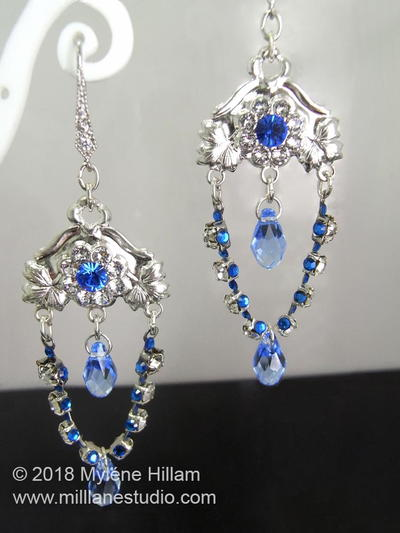 Sapphire Chandelier Drop Earrings
