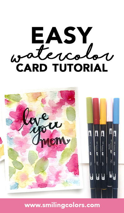 Easy Watercolor Card