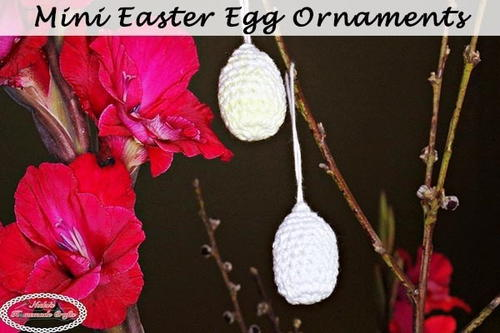 Easy Crochet Easter Egg Decorations