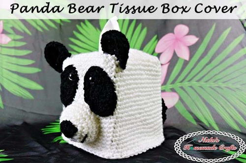 Cute Crochet Panda Tissue Box Cover