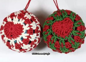 Zigzag Crochet Stitch Christmas Decorations