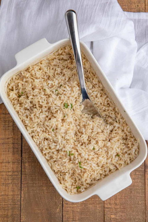 Perfect Brown Rice (Baked Brown Rice)