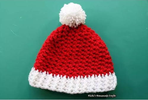 All Sizes Santa Hat   AllFreeCrochet.com   336x500