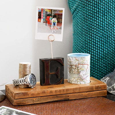 DIY Personalized Nightstand Organizer