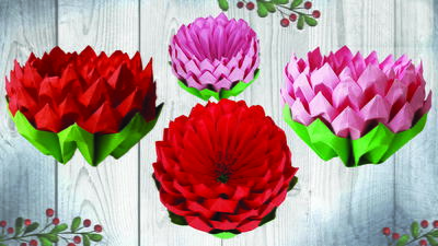 How to Make Lotus in Origami Style Easy Craft Tutorial