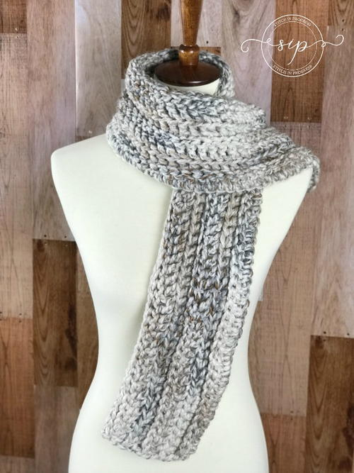 Back Loop Only Crochet Scarf