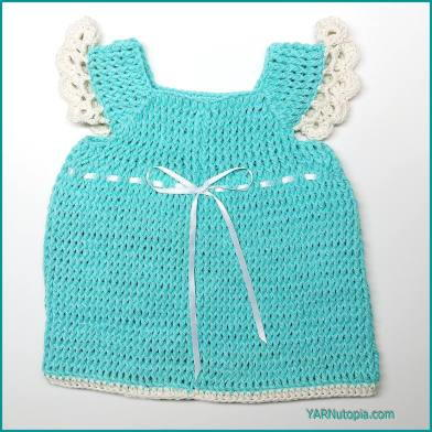 Blueberry Baby Dress Easy Crochet Pattern