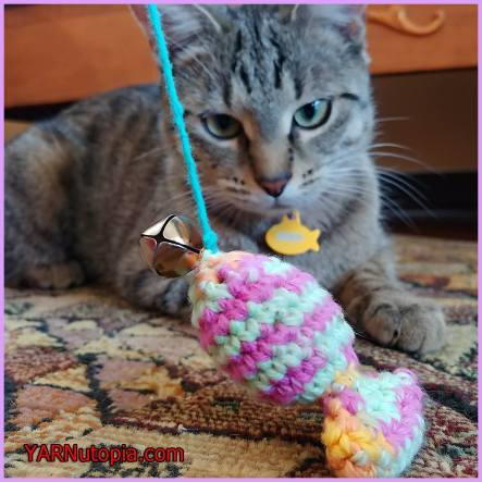Free Crochet Cat Toy Sardine Pattern
