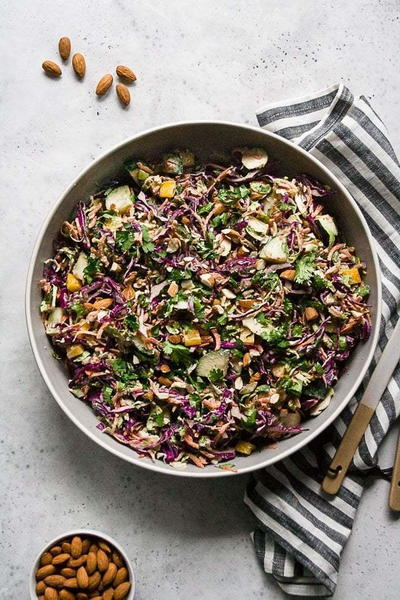 Chopped Thai Brussels Sprout Salad