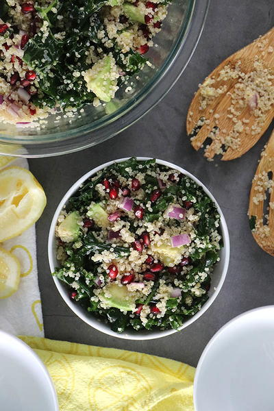 Superfood Vegan Quinoa Salad With Pomegranate Seeds