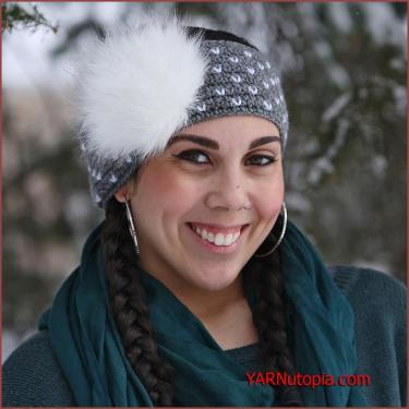 Snowball Crochet Headband Pattern for Adults