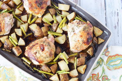 Honey Herb Baked Chicken Thighs