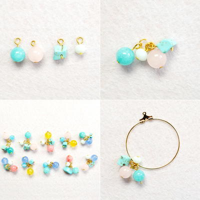 Beebeecraft Tutorial on How to Make Beaded Dangling Hoop Earrings