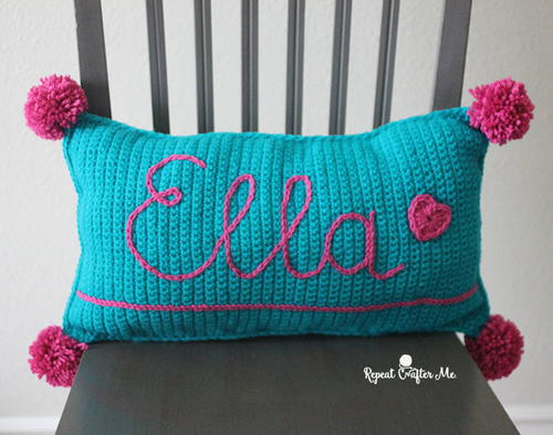 Personalized Kids Crochet Pillow Easy Pattern