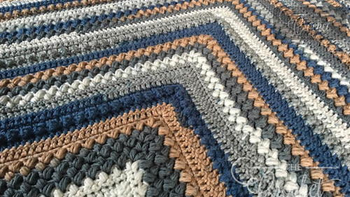 Crochet Mitered Square Afghan Pattern