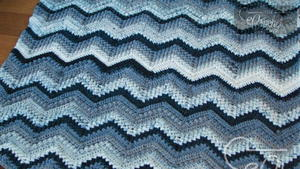 Easy Chevron Ripple Crochet Afghan Pattern