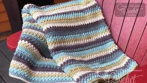 Quick Bean Stitch Crochet Afghan Pattern