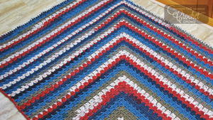 Patriotic Mitered Crochet Afghan Pattern
