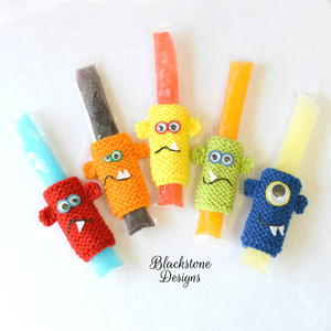 Knit Monster Popsicle Holders