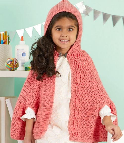 Girls Chic Crochet Capelet Pattern