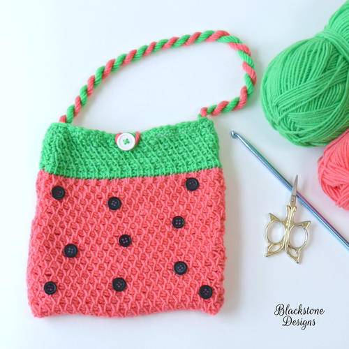 Tunisian Watermelon Bag