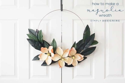 Adorable Hoop Wreath DIY