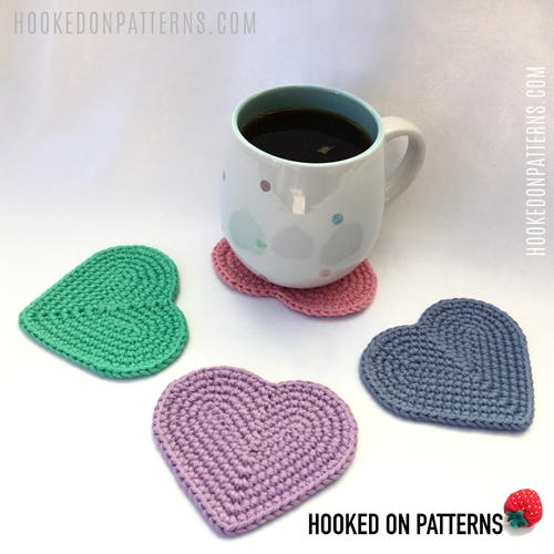 Simple Heart Coasters