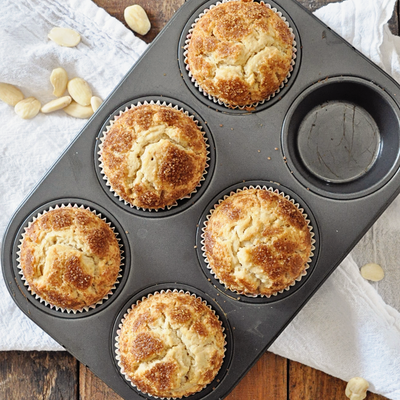 Spanish Almond Muffins with Caramelized Sugar