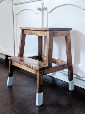 Astounding Diy Ikea Step Stool Upgrade Diyideacenter Com Creativecarmelina Interior Chair Design Creativecarmelinacom