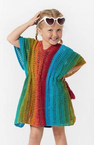 Beach Girl Rainbow Cover Up Crochet Pattern