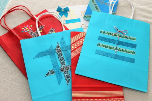 DIY Washi Tape Gift Bags
