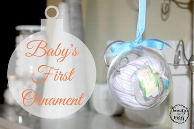 Baby's First Christmas Ornament | Scrapbook Ornament