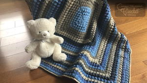 Sand and Sea Crochet Baby Afghan Pattern