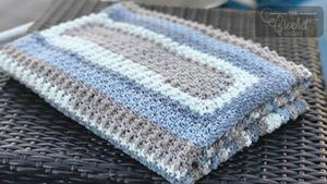 Cloudy Skies Crochet Baby Blanket Pattern