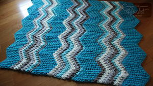 Ocean Waves Chunky Crochet Blanket Pattern