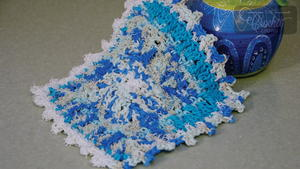 Blue Sugar'n Cream Crochet Dishcloth Pattern