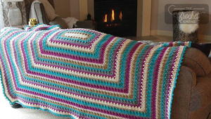 Large 5 Color Crochet Blanket Pattern