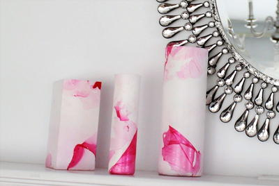 Easy DIY Marbled Vases
