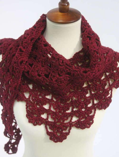 Red Flame Shawl