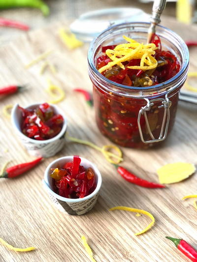 Chilli Ginger and Lemon Rind Jam
