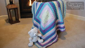 Cotton Candy Crochet Baby Blanket Pattern
